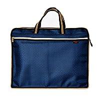 卡百文A4防水加厚手提资料袋拉链袋帆布文件包双层男士办公文件袋 (蓝色)