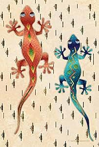 Toland Home 花园壁虎队 31.75 x 45.72 cm 装饰艺术西南沙漠蜥蜴旗帜