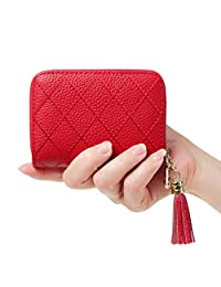 女式 RFID 屏蔽 15 个插槽卡包皮革拉链手风琴钱包