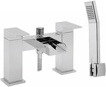 Deva SPA106 闪亮甲板安装浴室淋浴混合器龙头,镀铬表面