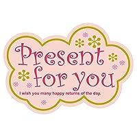 cotta 贴纸 礼品粉色 2.8×4cm 1725 100张装 100个套装