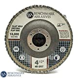 Benchmark Abrasives 11.43 cm x 2.22 cm 弧形圆片焊接翻片片 - 5 件装
