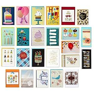 Hallmark 所有场合手工盒装各式贺卡套装(24 件装) Floral Box