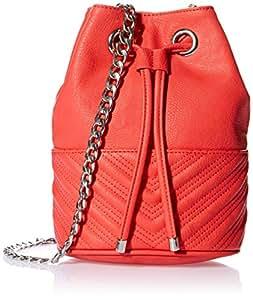BCBGeneration 女式 时尚经典斜挎包 EGS516GN-616 大红色 均码(亚马逊进口直采,美国品牌)