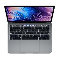 【2018新款】Apple 苹果 MacBook Pro 13英寸笔记本电脑 四核第八代Core i5处理器2.3GHz/8G/256G SSD/MR9Q2CH/A 深空灰 苹果电脑 Multi-Touch Bar 套装版【内含罗技无线蓝牙鼠标+Chirslain清洁套装】