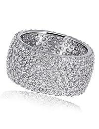 Goldmaid 亚马逊进口直采 德国品牌 女士925纯银镶嵌方晶锆石 女士戒指 Pa R2899S54