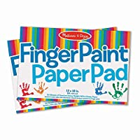 Melissa & Doug 手指画绘画本(12 x 18英寸/30 x 46cm),每件50张纸,2本装