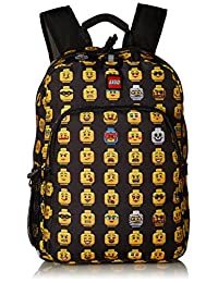 LEGO Kids' Minifigure Heritage Classic Backpack, Black, One Size