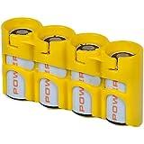 Powerpax Storacell SlimLine CR123 4 件装电池盒,橙色 Holds 4 Batteries SLCR123CY