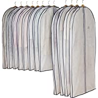 ASTRO 衣服 衣服 衣服 罩子 带裆垫 压缩袋 拉链式 透气性良好 无纺布制 白色 スーツサイズ:約幅60×長さ105×マチ7㎝ ロングサイズ:約幅×長さ140×マチ7㎝ 11044