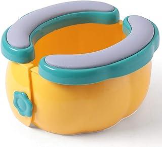 便携式旅行便盆,男孩女孩可折叠训练马桶,大号可重复使用防滑旅行便盆,带储物袋和垃圾袋,可用于户外、旅行和车内(黄色)