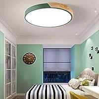 LITFAD 吸顶灯 40.64cm 马卡龙现代亚克力圆形嵌入式安装 LED 吸顶灯白色灯 适用于儿童卧室客厅餐厅*