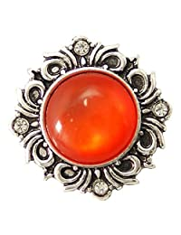 My Prime Gifts Snap Jewelry 橙色复古水钻卷轴标准尺寸 18-20mm