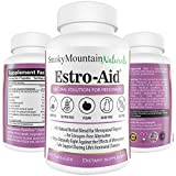 Smoky Mountain Naturals Estro-Aid: Herbal Menopause and PMS Supplement. Free of Dairy, Soy, Gluten, Magnesium Stearate, & GMOs. Vegan, Organic Veggie Capsule and Estrogen-Free. 100% Money-Back Guarantee.