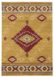地毯4LESS 系列西南美国本土印度小地毯设计小地毯 r4l 219–60米色 berber *红色