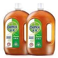 Dettol 滴露消毒液1.8L*2 家居衣物宠物杀菌清洁多用途消毒   洗衣地板消毒水(亚马逊自营商品, 由供应商配送)