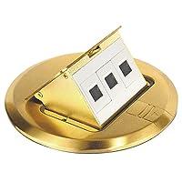 Southwire 工具和设备 FBCVBR-3D-KIT 黄铜表面地板盒套装 带弹出式数据端口