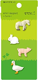 Midori 迷你磁铁,农场动物 (49757006)