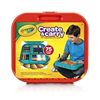 Crayola 75件艺术品套装 5岁及以上儿童 2合1便携式书桌 、便携盒 儿童艺术家 随身携带,包括马克笔,蜡笔,彩色铅笔和纸