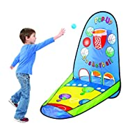 Kovot 弹出式篮球游戏 | 可折叠便携式投球适用于室内或室外使用