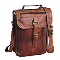 RK Leather I pad Messenger Satchel Bag 平板电脑斜挎单肩包 11 英寸