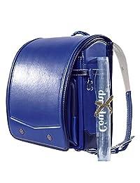 Coulomb 谷村鞄 日亚同步热卖序曲系列男孩款日式书包1-6年级使用经典款硬式箱体20CM厚度高档减负皮面书包赠原装透明书包盖银河蓝