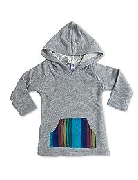 Sol 婴幼儿/幼儿 法国 Terry/Aqua Serape Baja 套头连帽衫