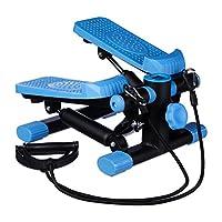 Relaxdays 男女通用踏板,可调节阻力,带扩展器,速度计和踏板计数器,高x宽x:170 X 31 X 33 厘米,黑色,蓝色,中号