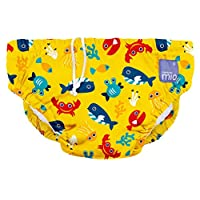 Bambino Mio Swim Diaper, Deep Sea Yellow, Large/1-2 Years