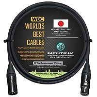 91.44 厘米 - 四根平衡麦克风电缆由 WORLDS *佳电缆 - 使用 Mogami 2534 线和Neutrik NC3MXX-B 公式 & NC3FXX-B 母头 XLR 插头。