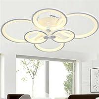 枝形吊燈現代亞克力照明嵌入式LED 天花板燈燈具,6 個頭,適用于餐廳、浴室、臥室、客廳,LightInTheBox 出品 暖白色 S531611900002#EMS#wh=24