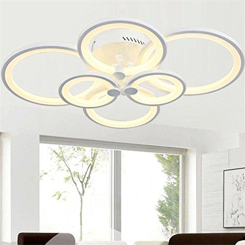 枝形吊灯现代亚克力照明嵌入式LED 天花板灯灯具,6 个头,适用于餐厅、浴室、卧室、客厅,LightInTheBox 出品 暖白色 S531611900002#EMS#wh=24