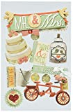 """3D Sticker 4.5""""x7"""" Sheet-Mr. & Mrs."""