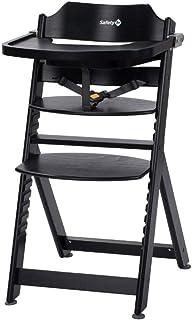 Safety 1st Timba 高脚椅,伴随宝宝成长,由实心山毛榉木制成,适合6个月至约 10 岁的儿童(*重 30kg)不同的款式 深黑色