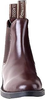 Rhinegold 女孩经典皮质Jodhpur 马靴