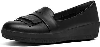 FitFlop 女士 Vianne Fringey 运动乐福鞋平底鞋