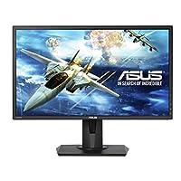 ASUS 17.3英寸全高清 freesync 游戏显示器 [ vg245h ] 1080P ,1MS 快速响应时间,75HZ ,双 HDMI ,低蓝色灯,闪烁免费显示, Pivot ,倾斜和黑色, ASUS EYECARE 黑色 24-Inch
