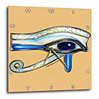 "3dRose dpp_167473_1 Opalite Eye Of Ra Egyptian Pagan Art Wall Clock, 10"" x 10"""