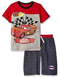 Disney 男童汽车圆领短裤套装