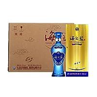 洋河蓝色经典 42度 海之蓝 绵柔型 480ml*6(原厂包装未拆封,送3只礼品袋)整箱装