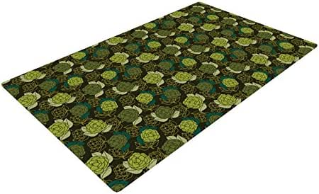 Kess InHouse Holly Helgeson Camillia 深森林*编织小地毯,4 英尺 x 6