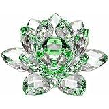 "Amlong 水晶水线反射水晶莲花与礼盒,绿色 绿色 3"" CF10630"