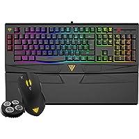 gamdias Hermes RGB 机械游戏键盘带蓝色切换,6播放器 profiles ,照明效果 & n-key 滚 ( gkb1050) 7 Colors Combo