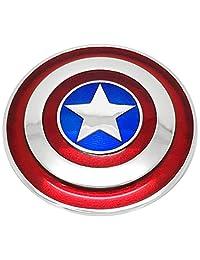 Marvel 美国队长大号盾牌项链纯银,925 纯银镀铑和 18 克拉金 216 months to 1200 months 小号 925 纯银镀铑和 18kt 金