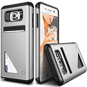 Galaxy S6 Edge Plus Case, Lific [Mighty Card Defense] - [Card Slot][Heavy Duty][Wallet][Slim Fit] - Parent Satin Silver