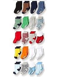 LITTLE ME BABY 男孩20件装脚链袜子混色0–12个月 / 12–24个月