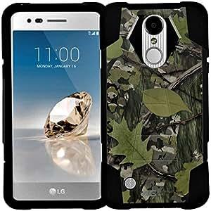LG Aristo 手机壳,LG Aristo 2 手机壳,Tribute Dynasty,LG Fortune,Phoenix 3,Risio 2,Rebel 2 LTE,LG K8 (2017) 手机壳 - 混合双层保护手机套 Advanced Armor - Hunting Camo