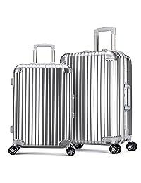 JamayZeyliner 佳美吉利亚 铝框行李箱拉杆箱登机箱托运箱万向轮出国旅行箱包20寸+28寸2件套