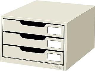 KOKUYO 国誉 信件盒 钢制抽屉 A4纵向 单扣 3层 LC-3M