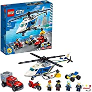 LEGO City 60243 警察直升机,配有全地形车、摩托车和卡车